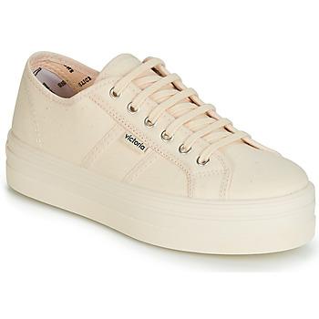 Încăltăminte Femei Pantofi sport Casual Victoria BARCELONA LONA MONOCROMO Bej
