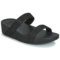 Încăltăminte Femei Papuci de vară FitFlop LOTTIE GLITZY SLIDE Negru