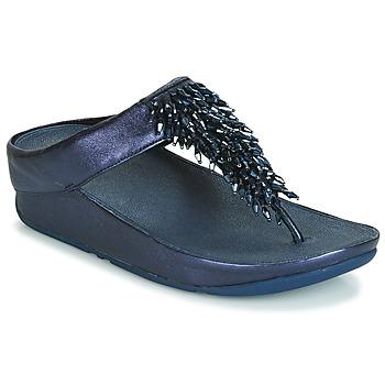 Pantofi Femei  Flip-Flops FitFlop RUMBA TOE THONG SANDALS Albastru