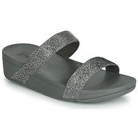 Pantofi Femei Papuci de vară FitFlop LOTTIE GLITZY SLIDE Argintiu