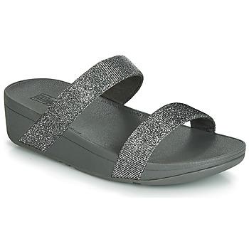 Încăltăminte Femei Papuci de vară FitFlop LOTTIE GLITZY SLIDE Argintiu