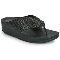 Încăltăminte Femei  Flip-Flops FitFlop TWISS CRYSTAL Negru