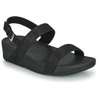 Pantofi Femei Papuci de vară FitFlop LOTTIE GLITZY BACKSTRAP SANDAL Negru
