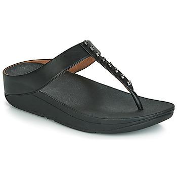 Încăltăminte Femei  Flip-Flops FitFlop FINO TREASURE Negru