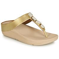 Pantofi Femei  Flip-Flops FitFlop FINO SHELLSTONE Auriu