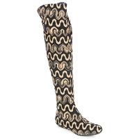 Pantofi Femei Cizme lungi peste genunchi Missoni SM05 Bej
