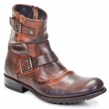Pantofi Bărbați Ghete Base London METAL Tan