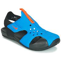 Pantofi Băieți Sandale și Sandale cu talpă  joasă Nike SUNRAY PROTECT 2 PS Negru / Albastru