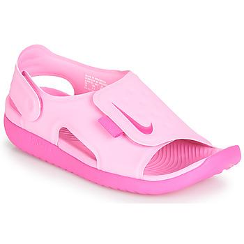 Încăltăminte Fete Sandale și Sandale cu talpă  joasă Nike SUNRAY ADJUST 5 Roz
