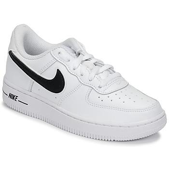 Încăltăminte Copii Pantofi sport Casual Nike AIR FORCE 1-3 PS Alb / Negru